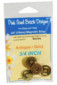 Pink Sand Beach Designs 3/4 inch (18mm) Magnetic Snap - Antique Gold