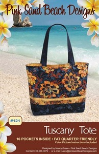 Pink Sand Beach Designs Tuscany Tote Pattern