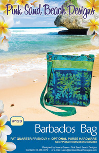Pink Sand Beach Designs PSB120 Barbados Bag Sewing Pattern for Fat Quarters