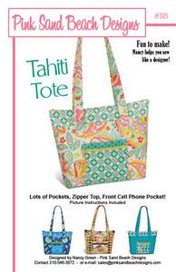 Pink Sand Beach Designs Tahiti Tote Pattern