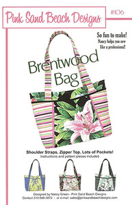 Pink Sand 93-3293 Beach Designs Brentwood Handbag Sewing Pattern