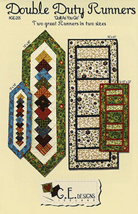 G.E. Designs Double Duty Table Runners Quilting Sewing Pattern