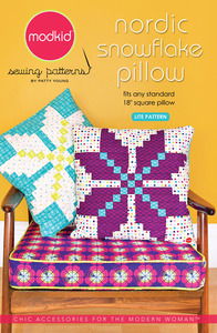 modkid Nordic Snowflake Pillow Sewing Pattern