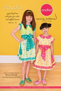 modkid MKSP040CL, Claudia Girls Dress Sewing Pattern