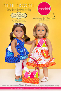modkid Mini Naomi: Dolly-sized Sundress and Top Sewing Pattern