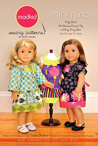 modkid Mini Nina - Dolly Sized Top & Easy-Peasy Skirt Sewing Pattern