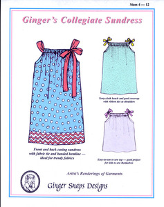 Ginger Snaps Designs Ginger's Collegiate Sundress Girls' Sizes 4 - 12