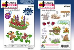 Amazing Designs / Great Notions 5006 Jumbo Garden Collection I Multi-Formatted CD