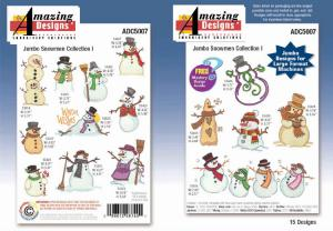 Amazing Designs Great Notions 5007 Jumbo Snowman Collection I CD