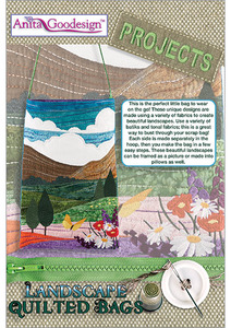 """Anita Goodesign PROJ51 Landscape Bags Projects Collection CD, 13 Designs in 3 Sizes Each for 6x10, 7x11, 8x12"""" Hoops"""
