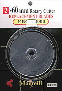 Martelli Enterprises 60mm Rep Blades Ergo 2000 2/pk NOTIONS