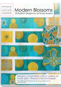 Every Stitch Counts ESC Modern Blossoms  Embroidery Design CD