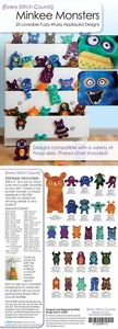 Every Stitch Counts - Minkee Monsters Embroidery Design CD