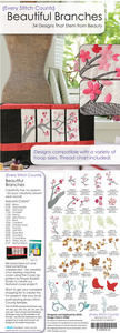 Every Stitch Counts - Beautiful Branches Embroidery Design CD