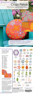 Every Stitch Counts - Crazy Petals Embroidery Design CD
