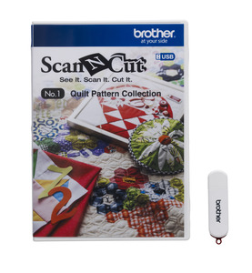 Brother ScanNCut CAUSB1 No.1 Quilt Pattern Collection by Suzuko Koseki on USB Stick