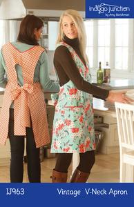 Indygo Junction Vintage V-Neck Apron Sewing Pattern