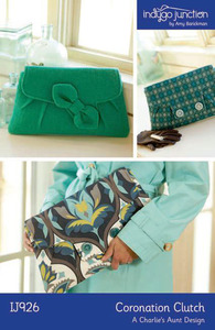 Indygo Junction Coronation Clutch Bag Sewing Pattern