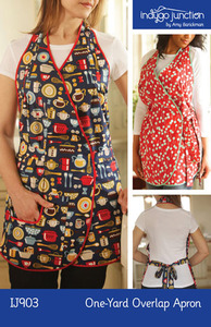Indygo Junction IJ903 One-Yard Overlap Apron Sewing Pattern
