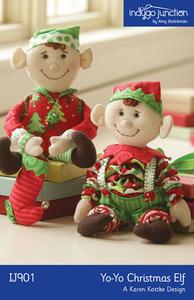 Indygo Junction Yo-Yo Christmas Elf Sewing Pattern