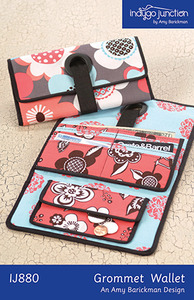 Indygo Junction Grommet Wallet Sewing Pattern