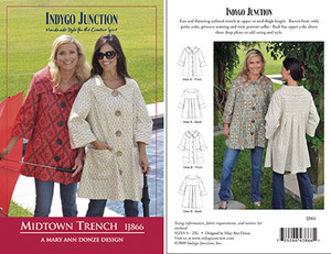 Indygo Junction Midtown Trench Sewing Pattern