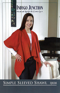 Indygo Junction Simple Sleeved Shawl Sewing Pattern