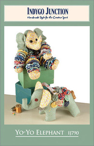 Indygo Junction Yo-Yo Elephant Sewing Pattern