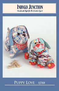Indygo Junction 93-2706 Puppy Love Sewing Pattern, Yo Yo and Stuffed Pups