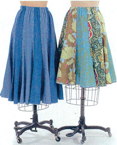 Indygo Junction Great Fit Gored Skirt Sewing Pattern XXS-XXL.