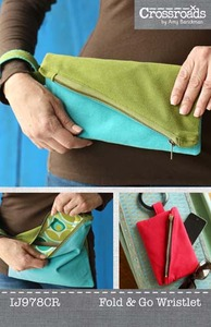 Indygo Junction Crossroads by Amy Barickman: Fold and Go Wristlet Sewing Pattern
