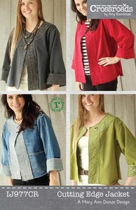 Indygo Junction Crossroads by Amy Barickman: Cutting Edge Jacket Sewing Pattern