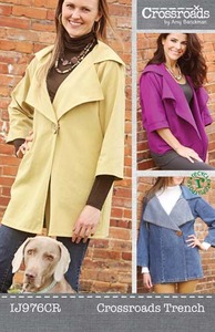 44101: Indygo Junction IJ976CR Crossroads Trenchcoat Sewing Pattern by Amy Barickman