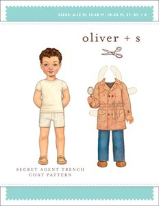 Oliver + S Secret Agent Trench Coat (6 m-4) Sewing Pattern