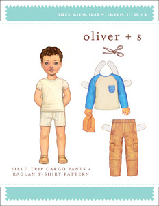 Oliver + S Field Trip Cargo Pants and Raglan Shirt (6M-4) Sewing Pattern
