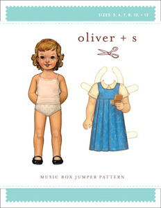 Oliver + S OS021MB2 Music Box Jumper Pattern Sewing Pattern Sizes 5-12