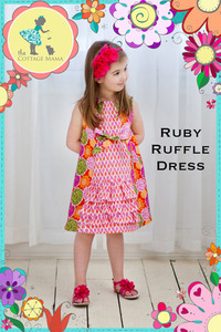 The Cottage Mama Inc. Ruby Ruffle Dress Sewing Pattern