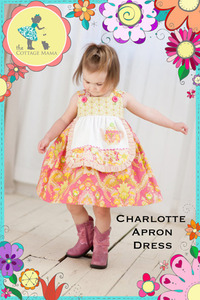 The Cottage Mama Inc. Charlotte Apron Dress Sewing Pattern