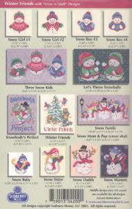 Sudberry House D4200 Winter Friends Cross Stitch Embroidery Designs CD