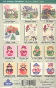 Sudberry House D4100 Four Seasons Cross Stitch Embroidery Designs CD