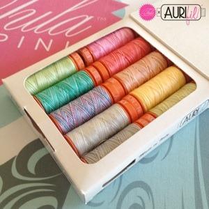 Aurifil TP50TP10 Tula Pink Premium Collection 10 Small Spools 50wt Cotton Thread Kit
