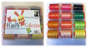 Aurifil CC50ML12 I Can Fly Citrus Kit 12 Large 1094Yd Spools 50wt Cotton Thread Kit