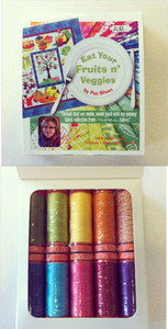 Aurifil Fruits N Veggies Kit 10 Small Spools Cotton 50wt Thread Kit