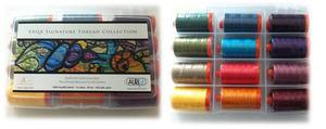 Aurifil SAS50K12 SAQA Signature Thread Kit 12 Large 1094Yd Spools 50wt Cotton Mako