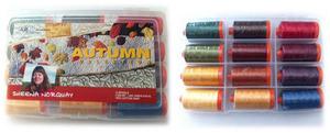 Aurifil SN50AC12 Autumn Collection 12 Large 1094Yd Spool Thread Kit