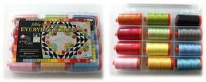 Aurifil EC50JF12 Everyday Colors 12 Large 1094Yd Spools 50wt Cotton Thread Kit