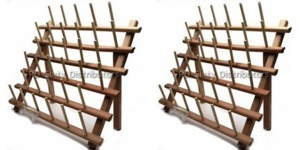 Best Buy P60680 2 Pack of 33 Spool Pins Thread Rack Wood Stands, for up to 3000 Yard Cones on 66 Spindles