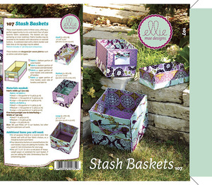 Ellie Mae Designs KW107 Stash Baskets Sewing Pattern