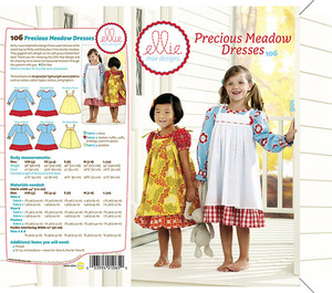 Ellie Mae Designs KW106 Precious Meadow Dresses Sewing Pattern