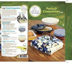 Ellie Mae Designs KW104 Potluck Companions Sewing Pattern